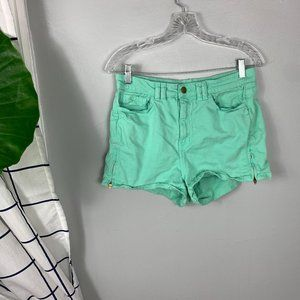 American Apparel Stretch Low Rise Shorts Turquoise